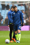 Derby County striker David Nugent (28) during the EFL Sky Bet Championship match between Aston Villa and Derby County at Villa Park, Birmingham, England on 28 April 2018. Picture by Jon Hobley.