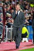 Heart of Midlothian caretaker manager Austin MacPhee during the Ladbrokes Scottish Premiership match between Heart of Midlothian FC and Livingston FC at Tynecastle Park, Edinburgh, Scotland on 4 December 2019.
