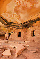 Anasazi ruins, Road Canyon of Grand Gulch Primitive Area, Cedar Mesa Utah Bears Ears National Monument