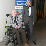 No Repro Fee<br /> 02/04/2015<br /> Picture at the Spinal Injuries Ireland Lunch at the Marker Hotel, Dublin were<br /> Bernard Healey (left) and Johnny Murphy.<br /> Pic: Alan Rowlette