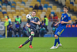KIEV, UKRAINE - Easter Monday, March 28, 2016: Wales' Chris Gunter in action against Ukraine during the International Friendly match at the NSK Olimpiyskyi Stadium. (Pic by David Rawcliffe/Propaganda)