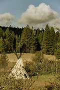 View from my kitchen window of Jeff Funk's teepee.