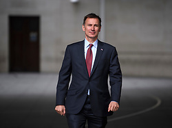 © Licensed to London News Pictures. 14/06/2019. London, UK. Foreign Secretary JEREMY HUNT is seen leaving BBC Broadcasting House in London following a BBC radio interview. Boris Johnson has cemented his position as favourite to become the next Prime Minster after winning a landslide in the first round of the conservative party's leadership race, with Jeremy Hunt a distant second. Photo credit: Ben Cawthra/LNP