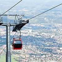 Vista di Maribor dalla funivia di Pohorje
