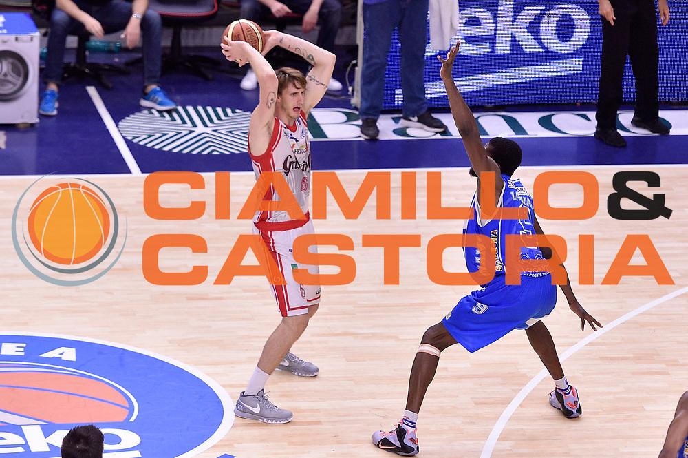 DESCRIZIONE : Sassari Lega A 2014-2015 Banco di Sardegna Sassari Grissinbon Reggio Emilia Finale Playoff Gara 6 <br /> GIOCATORE : Achille Polonara<br /> CATEGORIA : passaggio<br /> SQUADRA : Grissin Bon Reggio Emilia<br /> EVENTO : Campionato Lega A 2014-2015<br /> GARA : Banco di Sardegna Sassari Grissinbon Reggio Emilia Finale Playoff Gara 6 <br /> DATA : 24/06/2015<br /> SPORT : Pallacanestro<br /> AUTORE : Agenzia Ciamillo-Castoria/GiulioCiamillo<br /> GALLERIA : Lega Basket A 2014-2015<br /> FOTONOTIZIA : Sassari Lega A 2014-2015 Banco di Sardegna Sassari Grissinbon Reggio Emilia Finale Playoff Gara 6<br /> PREDEFINITA :