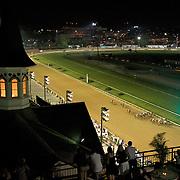 19 June 2009 : Fans enjoy Night Racing at Churchill Downs in Louisville, Kentucky