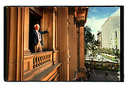 csz990407.001.001.jpg. melbourne lord mayor peter costigan looking out of the town hall, pic by craig sillitoe, news melbourne photographers, commercial photographers, industrial photographers, corporate photographer, architectural photographers, This photograph can be used for non commercial uses with attribution. Credit: Craig Sillitoe Photography / http://www.csillitoe.com<br />