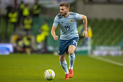 November 15, 2018 - Dublin, Ireland - Stuart Dallas of Northern Ireland runs with the ball during the International Friendly match between Republic of Ireland and Northern Ireland at Aviva Stadium in Dublin, Ireland on November 15, 2018  (Credit Image: © Andrew Surma/NurPhoto via ZUMA Press)