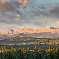 The Rocky Mountains as seen from my sister's country home in southern Alberta.