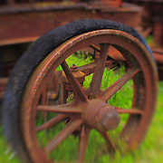 Rusting Wheel - Pottsville - Merlin, Oregon - Lensbaby