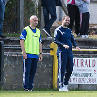 Picture by Christian Cooksey/CookseyPix.com.<br /> All rights reserved. For full terms and conditions see www.cookseypix.com<br /> <br /> Juniors - Auchinleck Talbot v Glenafton Athletic. Glenafton's management team Assistant Manager Craig Potter (left) and manager Craig McEwan