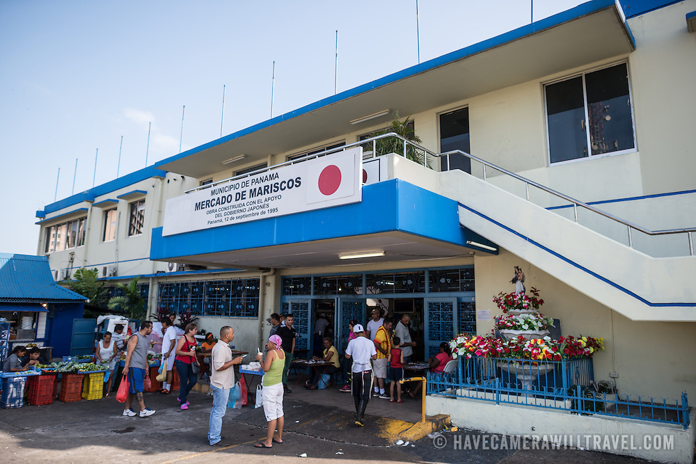 The buzzing Mercado de Mariscos (Seafood Market) on the waterfront next to Casco Viejo in Panama City. In one section, vendors sell fresh seafood of all types, while next to it are a series of outdoor seafood restaurants where ceviche is a specialty.