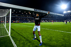 Tyrone Mings of Aston Villa celebrates after his side win on penalties against West Bromwich Albion to book their place in the Sky Bet Championship Playoff Final - Mandatory by-line: Robbie Stephenson/JMP - 14/05/2019 - FOOTBALL - The Hawthorns - West Bromwich, England - West Bromwich Albion v Aston Villa - Sky Bet Championship Play-off Semi-Final 2nd Leg