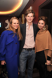 A party to promote the exclusive Puntacana Resort & Club - the Caribbean's Premier Golf & Beach Resort Destination, was held at The Groucho Club, 45 Dean Street London on 12th May 2010.<br /> <br /> Picture shows:-Left to right,  ANNA GAVAZZI, FREDERICK TATHAM and STEPHANIE BILET
