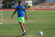 Forest Green Rovers Keanu Marsh-Brown(7) warming up during the Pre-Season Friendly match between SC Farense and Forest Green Rovers at Estadio Municipal de Albufeira, Albufeira, Portugal on 25 July 2017. Photo by Shane Healey.