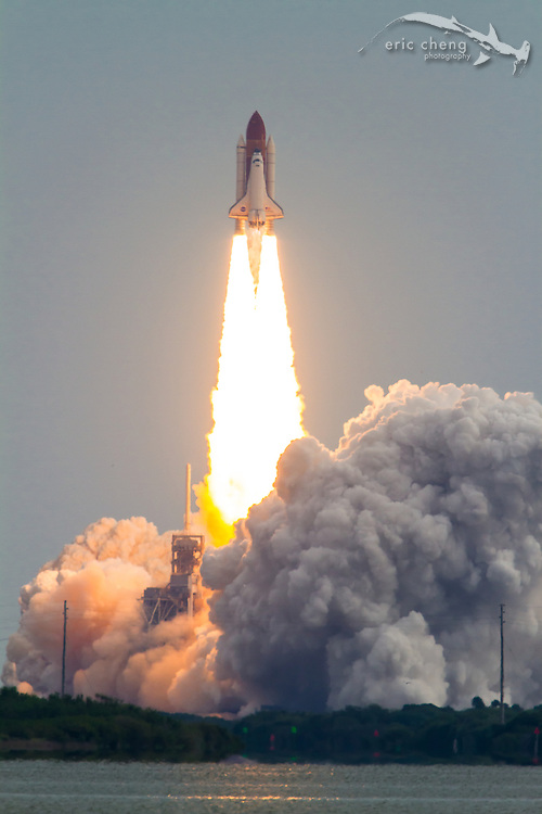 STS-134, the second to last space shuttle mission. Space Shuttle Endeavour launches from Kennedy Space Center, Cape Canaveral, Florida, on May 16, 2011.