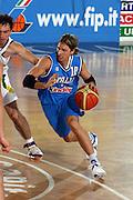 DESCRIZIONE : Rieti Torneo Internazionale Lazio 2006 Italia-Lituania<br /> GIOCATORE : Pecile<br /> SQUADRA : Italia<br /> EVENTO : Rieti Torneo Internazionale Lazio 2006<br /> GARA : Italia Lituania<br /> DATA : 22/06/2006 <br /> CATEGORIA : Palleggio<br /> SPORT : Pallacanestro <br /> AUTORE : Agenzia Ciamillo-Castoria/E.Castoria