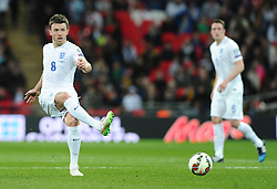 Michael Carrick of England (Manchester United)  - Photo mandatory by-line: Joe Meredith/JMP - Mobile: 07966 386802 - 27/03/2015 - SPORT - Football - London - Wembley Stadium - England v Lithuania - UEFA EURO 2016 Qualifier