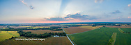 63893-03414 Sunset in rural Illinois - panoramic aerial - Marion Co. IL