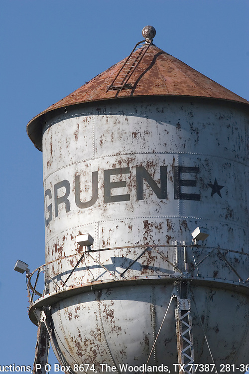 Water tower in historic Gruene, Texas.
