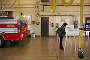 Voters cast their ballots at the Milpitas Fire Station #3 during the California Presidential Election in Milpitas, California, on June 7, 2016. (Stan Olszewski/SOSKIphoto)