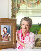 Nadene Lokey, the sister of WWII hero Audie Murphy, at her home in Farmersville, Texas on June 17, 2013.