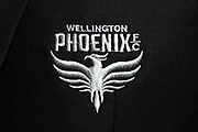 The new logo of the Wellington Phoenix Football Club.<br /> Dawn ceremony and new logo unveiling of the Wellington Phoenix Football Club at The Wharewhaka Function Centre in Wellington, New Zealand on 10 August 2017.<br /> Copyright photo: Cameron McIntosh / www.photosport.nz