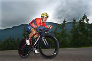 Domenico Pozzovivo (ITA - Bahrain - Merida) during the 101th Tour of Italy, Giro d'Italia 2018, stage 16, Trento - Rovereto 34.5 km on May 22, 2018 in Italy - Photo Dario Belingheri / BettiniPhoto / ProSportsImages / DPPI