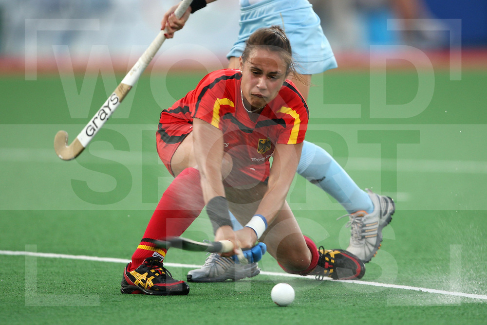 Bronze medal Game , Germany Vs Argentina 22-8-08..Beijing Olympic Green Hockey Stadium  ..Photo: Grant Treeby/WSP