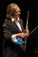 The University of Chicago's Contempo celebrated 50 years this Sunday with a concert at the Reva and David Logan Center located at 915 E. 60th Street.<br /> <br /> 0643, 0644 – Flutist, Mary Stolper.