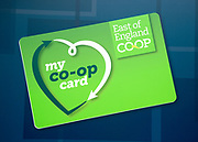 My Co-Op Card, East of England Co-operative Society shop advertising sign, Woodbridge, Suffolk, UK