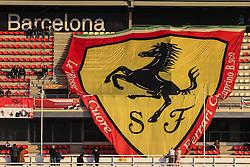 February 28, 2019 - Barcelona, Catalonia, Spain - Ferrari fans with big banner with Ferrari logo during the Formula 1 2019 Pre-Season Tests at Circuit de Barcelona - Catalunya in Montmelo, Spain on February 28. (Credit Image: © Xavier Bonilla/NurPhoto via ZUMA Press)
