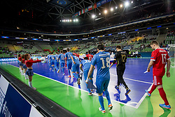 Players during futsal match between National teams of Kazakhstan and Russia at Day 5 of UEFA Futsal EURO 2018, on February 3, 2018 in Arena Stozice, Ljubljana, Slovenia. Photo by Urban Urbanc / Sportida