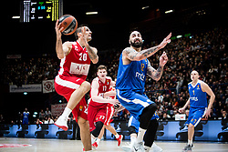 December 29, 2017 - Assago, Milan, Italy - Andrea Cinciarini (#20 AX Armani Exchange Milan) shoots a layup during a game of Turkish Airlines EuroLeague basketball between  AX Armani Exchange Milan vs Crvena Zvzda Mts Belgrade at Mediolanum Forum in Milan, Italy, on 29 december 2017. (Credit Image: © Roberto Finizio/NurPhoto via ZUMA Press)
