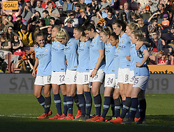 February 23, 2019 - Sheffield, England, United Kingdom - Anxious moments for Manchester City during the penalty shoot out during the  FA Women's Continental League Cup Final  between Arsenal and Manchester City Women at the Bramall Lane Football Ground, Sheffield United FC Sheffield, Saturday 23rd February. (Credit Image: © Action Foto Sport/NurPhoto via ZUMA Press)