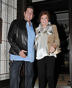19.APRIL.2012. LONDON<br /> <br /> CILLA BLACK AND DALE WINTON AT THE RESTAURANT 34 IN MAYFAIR, LONDON<br /> <br /> BYLINE: EDBIMAGEARCHIVE.COM<br /> <br /> *THIS IMAGE IS STRICTLY FOR UK NEWSPAPERS AND MAGAZINES ONLY*<br /> *FOR WORLD WIDE SALES AND WEB USE PLEASE CONTACT EDBIMAGEARCHIVE - 0208 954 5968*