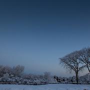 Today's white winter sunrise in Narragansett Beach, Narragansett  Rhode Island  February  14, 2013.