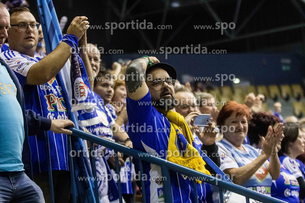 Fans of RK Celje Pivovarna Lasko during VELUX EHF Champions League handball match between RK Celje Pivovarna Lasko vs MOL Pick Szegad on the February 10. 2019, Celje, Slovenia. Photo by Matic Ritonja / Sportida