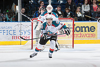 KELOWNA, CANADA - JANUARY 26: Henrik Nyberg #21 of the Kelowna Rockets skates on the ice against the Prince Albert Raiders at the Kelowna Rockets on January 26, 2013 at Prospera Place in Kelowna, British Columbia, Canada (Photo by Marissa Baecker/Shoot the Breeze) *** Local Caption ***