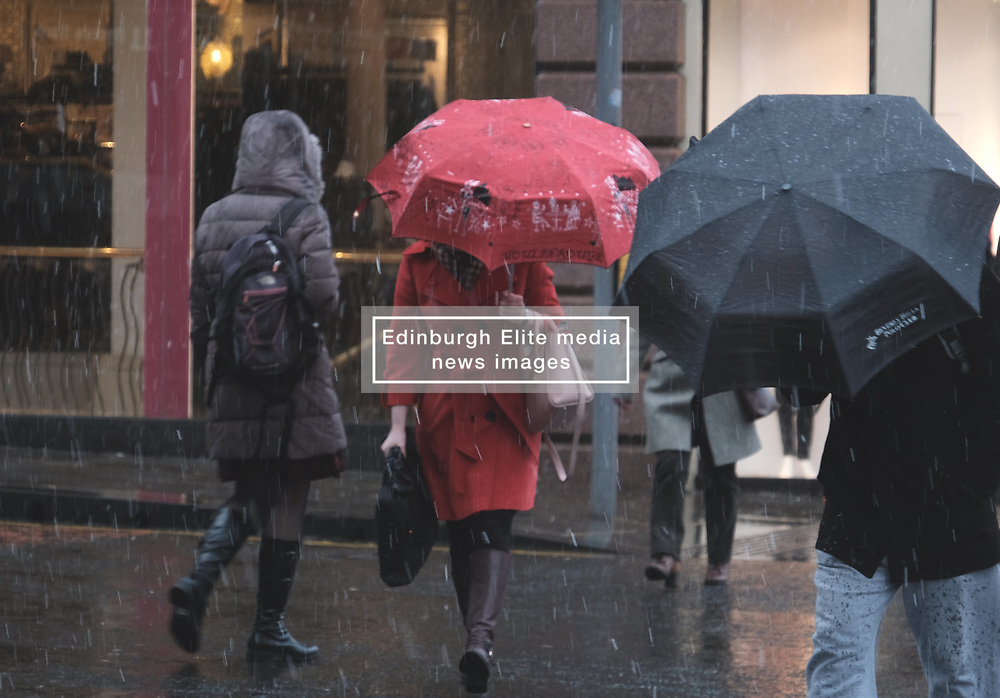 Snow fell in Edinburgh today as the temperature dropped.<br /> <br /> Alex Todd   EEm