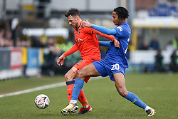 Lee Gregory of Millwall holds off a challenge from Toby Sibbick of AFC Wimbledon - Mandatory by-line: Arron Gent/JMP - 16/02/2019 - FOOTBALL - Cherry Red Records Stadium - Kingston upon Thames, England - AFC Wimbledon v Millwall - Emirates FA Cup fifth round proper
