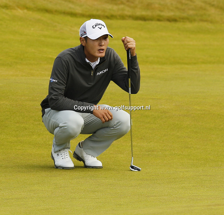 08-07-16 European Tour 2016, Aberdeen Asset Management Scottish Open, Castle Stuart Golf Links, Inverness, Scotland, UK. 07 - 10 Jul. Danny  Lee of New Zealand  during the second round.