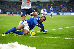 BOLTON, ENGLAND - Saturday, January 26, 2013: Everton's Victor Anichebe in action against Bolton Wanderers during the FA Cup 4th Round match at the Reebok Stadium. (Pic by David Rawcliffe/Propaganda)