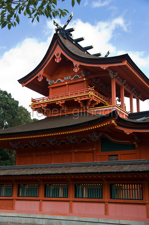 Photo shows the inner shrine of Fujisan Hongu Sengen Taisha shrine in Fujinomiya, Shizuoka Prefecture Japan on 01 Oct. 2012.  Photographer: Robert Gilhooly