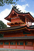 Photo shows the inner shrine of Fujisan Hongu Sengen Taisha shrine in Fujinomiya, Shizuoka Prefecture Japan on 01 Oct. 2012.  Photographer: Robert Gilhooly