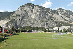 07.07.2015, Sportplatz Kematen, Kematen, AUT, Testspiel, Eintracht Frankfurt vs FC Wacker Innsbruck II, im Bild Blick ins Stadion von Kematen wo die Eintracht Ihr Testspiel abhaelt // during a International Friendly Match between Eintracht Frankfurt and FC Wacker Innsbruck II at the Sportplatz Kematen in Kematen, Austria on 2015/07/07. EXPA Pictures © 2015, PhotoCredit: EXPA/ Eibner-Pressefoto/ Fudisch<br /> <br /> *****ATTENTION - OUT of GER*****