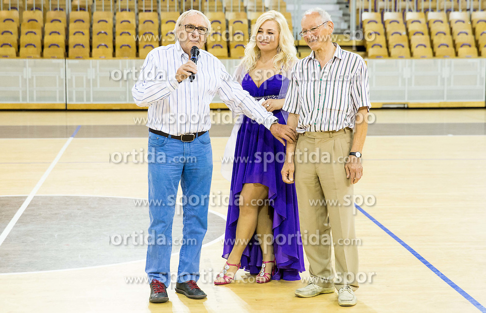 Tone Fornezzi Tof, Natasa Kadunc and Miro Cerar during football and basketball charity event All Legends by Olimpiki, on June 9, 2015 in Hala Tivoli, Ljubljana, Slovenia. Photo by Vid Ponikvar / Sportida