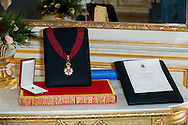 """The title of Commander of the Order of the Crowne at the Palace Egmont"""" at Brussels, 2014 in Brussels, Belgium."""