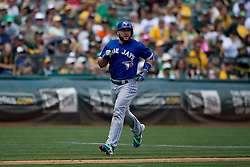 OAKLAND, CA - JULY 23:  Russell Martin #55 of the Toronto Blue Jays scores a run against the Oakland Athletics during the fourth inning at O.co Coliseum on July 23, 2015 in Oakland, California. The Toronto Blue Jays defeated the Oakland Athletics 5-2. (Photo by Jason O. Watson/Getty Images) *** Local Caption *** Russell Martin
