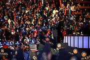 The DNC Convention in Denver will make Obama their candidate.<br /> <br /> <br /> <br /> Presidential Hopeful Barack Obama joins his running partner Joe Biden on the stage at the Pepsi Center.